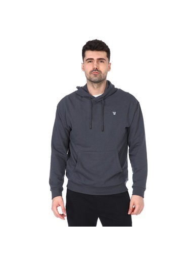 Sportive Swemankap Erkek Yeşil Günlük Stil Sweatshirt 711341-Ptr Gri